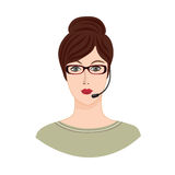 Avatar Icon. Female social profile. Avatar people  set. Royalty Free Stock Images