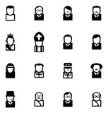 Avatar Icons Famous Dictators. This image is a  illustration and can be scaled to any size without loss of resolution Royalty Free Stock Images
