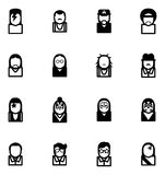 Avatar Icons Famous Musicians Set 1 Stock Photography