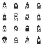 Avatar Icons Set 6 Royalty Free Stock Images