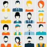 Avatar icons set Royalty Free Stock Image