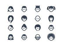Avatar icons 2 Royalty Free Stock Image