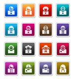 Avatar Icons - sticker series. Avatar Sticker Icons isolated over white background - sticker series stock illustration