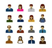 Avatar icons. Vector color avatar icons on white background Royalty Free Stock Image