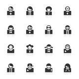 avatar ikon minimo serie Fotografia Stock