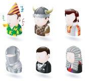 avatar ikony internetów ludzie ustawiający Obrazy Stock
