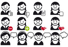 avatar ikony setu wektor Fotografia Stock