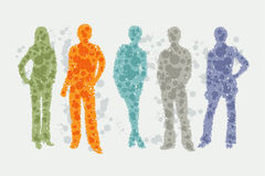 Avatar illustration - people silhouettes royalty free illustration