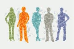Avatar ilustracja - ludzie sylwetek Obraz Royalty Free