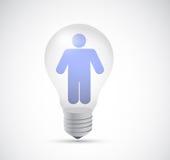 Avatar inside a light bulb illustration design Stock Photos