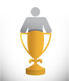 Avatar inside a trophy cup. illustration Stock Image