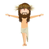 Avatar jesus christ with cro Stock Photography