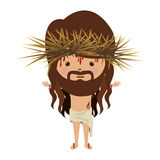 Avatar jesus christ with crown thorns and bood Royalty Free Stock Photo