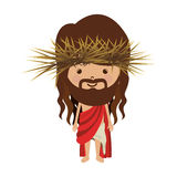Avatar jesus christ with stole and crown thorns. Illustration Royalty Free Stock Image
