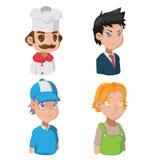 Avatar Job Character Cute de bande dessinée Photographie stock