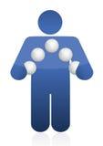 Avatar juggling spheres illustration design Royalty Free Stock Photo