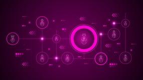 avatar kelnerspictogram Van geplaatst Avatars stock illustratie