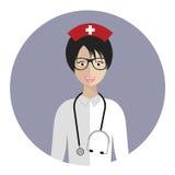 Avatar médico de la enfermera Fotografía de archivo libre de regalías