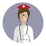Avatar médico de la enfermera Foto de archivo