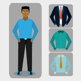 Avatar man and cloths design. Avatar man and cloths of diversity people and multiracial theme Vector illustration vector illustration