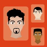 Avatar man design. Avatar man of diversity people and multiracial theme Vector illustration royalty free illustration