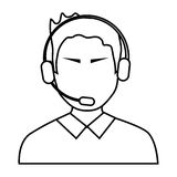 avatar man with headphones, illustration Royalty Free Stock Photos