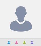 Avatar masculino - ícones do granito ilustração stock