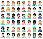 Avatar medici femminili Fotografie Stock