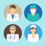 Avatar medici messi Immagini Stock Libere da Diritti