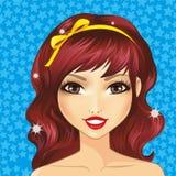 Avatar Meisje met Gele Boog Stock Foto