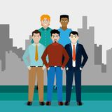 Avatar men design. Avatar men of diversity people and multiracial theme Vector illustration vector illustration
