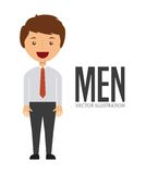 Avatar of men Royalty Free Stock Images