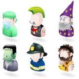Avatar mensenInternet pictogramreeks Royalty-vrije Stock Foto