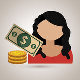 Avatar money bill coin. Illustration eps 10 royalty free illustration