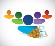Avatar and money illustration design Royalty Free Stock Photography