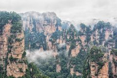 Avatar mountains, Zhangjiajie. Royalty Free Stock Image