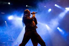 Avatar music band perform in concert at Download heavy metal music festival. MADRID - JUN 24: Avatar music band perform in concert at Download heavy metal music royalty free stock images