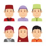 Avatar of Muslim people Royalty Free Stock Photo