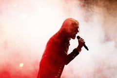 Avatar muzyczny zespół wykonuje w koncercie przy ściąganie ciężkiego metalu festiwalem muzyki zdjęcie stock