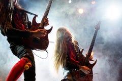 Avatar muzyczny zespół wykonuje w koncercie przy ściąganie ciężkiego metalu festiwalem muzyki zdjęcia stock
