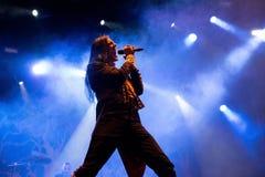 Avatar muzyczny zespół wykonuje w koncercie przy ściąganie ciężkiego metalu festiwalem muzyki obrazy royalty free