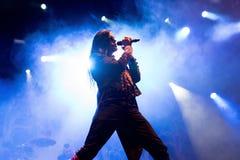 Avatar muzyczny zespół wykonuje w koncercie przy ściąganie ciężkiego metalu festiwalem muzyki obraz royalty free