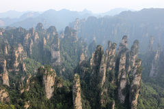 Avatar national Park at sunset, China, Asia. The nature of China mountains Avatar stock photography