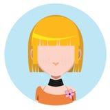 Avatar occasionnel de fille illustration libre de droits