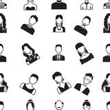 Avatar pattern icons in black style. Big collection of avatar vector symbol stock illustration Stock Photo