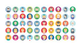 Avatar people character funny diversity with many kind of expression Royalty Free Stock Image