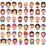 Avatar people Collection with different expression Royalty Free Stock Photos