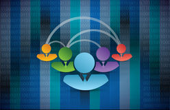 avatar people diversity link network Stock Photography