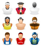 Avatar People Icon : Occupation Sport # 5. Series of sports people icon Royalty Free Stock Photo