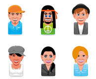 Avatar people icons Stock Photo